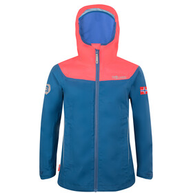 TROLLKIDS Bergen Jacket Girls midnight blue/coral